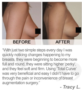 total curve before and after